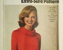 Vintage Sewing Pattern 1970s Simplicity 8188 Misses Pullover Dress Pattern Size 10, 12, 14 Uncut