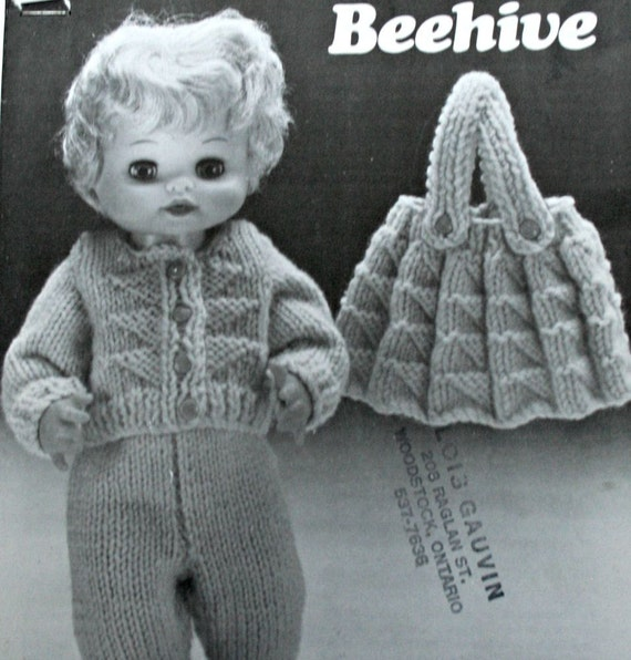 Patons Knitting Patterns For Dolls Clothes : Knitting Patterns Dolls Clothes 13 15 17 Inch Dolls