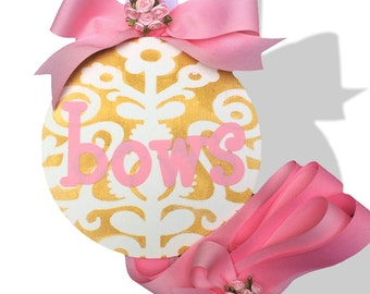 NEW Kids Baby Girl Hair Bow Holder in pink and gold