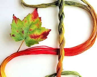 """Embroidery floss """"Sugar Maple"""" hand dyed cotton"""