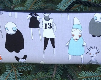 Zombie evening bag, clutch, small shoulder bag or wristlet, Zombie Apocalypse, The Bebe