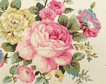 English rose Garden fabric - one yard