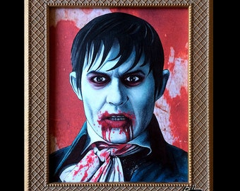 Barnabas Collins - Original Drawing - Dark Shadows Johnny Depp Tim Burton Vampire Dark Art Horror Lowbrow Blood Gothic Halloween Comedy Pop