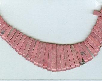 Pink Rhodonite Maxi Cleopatra Collar Fan 41pc Bead Set 8126