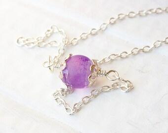 Purple Marble Anklet, Bridesmaid Jewelry