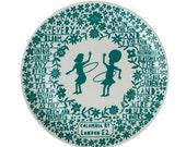 Hoola Hoop Girls Teal Plate