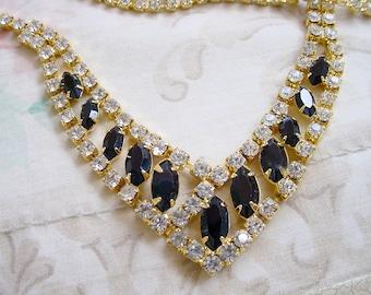 Sale Trifari Rhinestone TM Necklace, Bracelet, Earrings, Parure