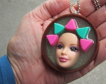 Trivial Girl - Upcycled Barbie  Pendant
