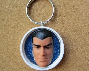 G I Joe - upcycled keychain