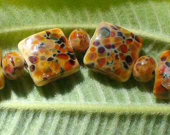 Lampwork Glass Beads by Catalina Glass SRA Tapestry Tiles