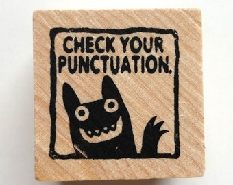 Check Your Punctuation - Monster rubber stamp for teachers