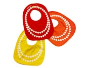 Pearl Necklace ) 3 - Pack Bibs