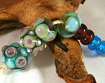 Lampwork  Art Beads by Jeanniesbeads 569