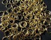 Jump Ring Jumpring Connectors Opened Round Gold ptd 22ga, 5mm, 100 Qty