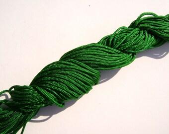 15# Cord GREEN Macrame Knotting Braided Beading Cord 1.5mm, 54 feet