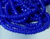 Candy jade faceted rondelle 4mm dark blue, 36 pcs (item ID CJ4mRNBB)