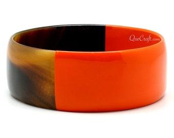 Horn & Lacquer Bangle Bracelet - Q11411-O
