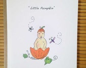 New Baby Shower Card - Little Pumpkin
