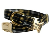 Personalized Aztec dog collar - Engraved Tribal Dog Collar - Arrows
