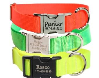 Laser Engraved Dog Collar - Hunting Dog Collar - Personalized Collar