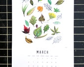 """SALE 2016 Wall Calendar """"Collection"""" - Large hand-illustrated month by month calendar that turns into art prints"""