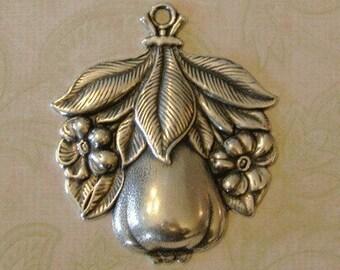 Silver Pear Pendant Destash