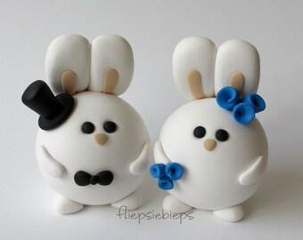 Custom Bunny Cake Topper Wedding