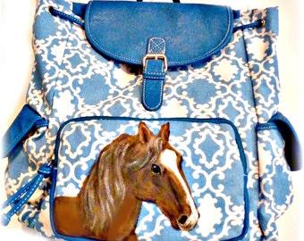 Custom Horse Hand Painted Handbag