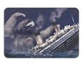 Slothberg Memory Foam Bath Mat, Funny Sloth Bathroom Rug - Printed in USA