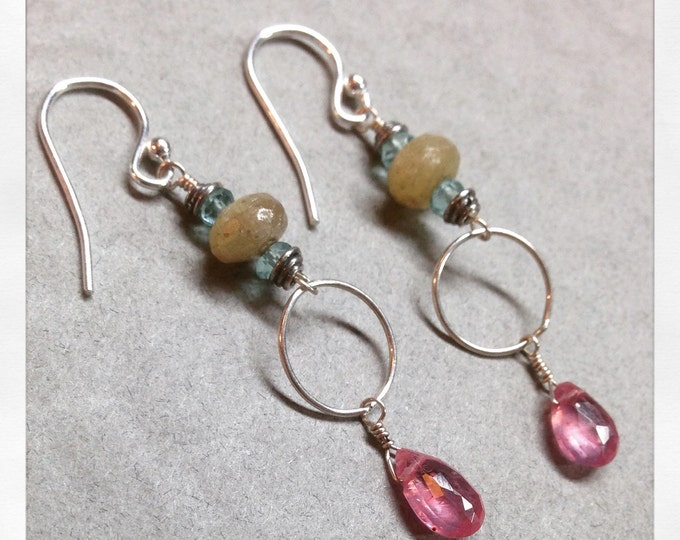 Sapphire and Apetite Earrings