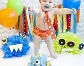 Necktie, Diaper Cover Set Orange/White Polka Dot Photography Prop, Dressy Baby Boy