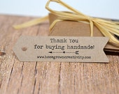 Arrow Shaped Custom Tags - Thank You Tags - Price Tags - Your Logo and Text - Flag Bunting Banner