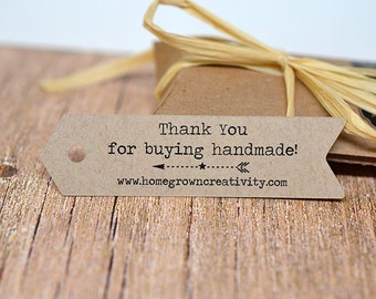 Arrow Shaped Custom Tags - Thank You Tags - Price Tags - Your Logo and Text - Flag Bunting Banner - Wedding DS014