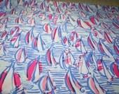 Lilly Pulitzer~ Cotton Poplin Fabric~ RED RIGHT RETURN~2015