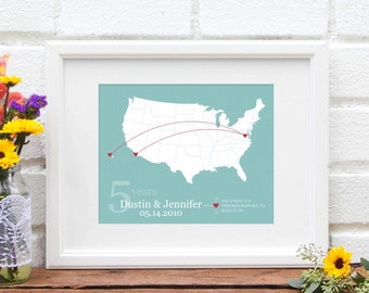 Travel Couple Etsy - Us map pictures of couple