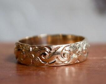 Gold Wedding band  unisex wedding band  hippie ring  boho chic ring   bohemianUnisex wedding band   Etsy. Hippie Wedding Rings. Home Design Ideas