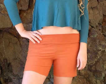 "ORGANIC Stretchy Simplicity 6"" Shorts ( light hemp and organic cotton Lycra ) - organic pants :"
