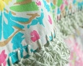 RESERVED LISTING for WENDY - two Liberty & Linen pillowcases with crochet trim  -  Sunkissed