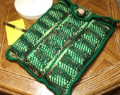 Protective Laptop Sleeve in Earthy Colors - Handmade Crochet - Thick Cushioning - Earthy Browns, Tans and Greens
