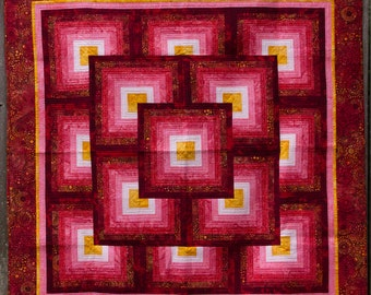 Red Batik Quilt