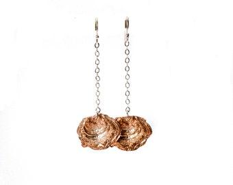 Lichen Earrings. Woodland Earrings. Copper. Moss. Forest Findings.
