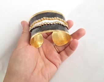 Special white Zircon CUFF Bracelet