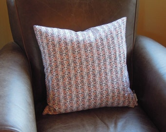 Organic Cotton Pillow Cover, Orange, Brown, Red,  Daisy Janie, Decorative Pillow, 18x18