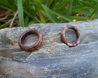 Mahogany Obsidian Ring -- Narrow, Smooth and Beautiful --  Only ONE Left --  US size 8 1/4
