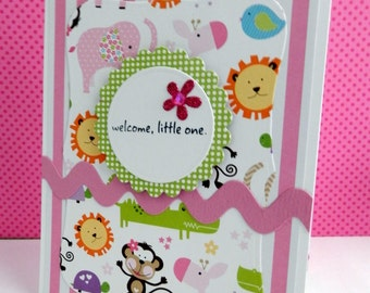 Greeting Card Baby Girl Welcome Little One