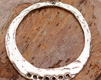 Artisan Charm Holder with 7 Holes, Sterling Silver Pendant, 335, Bohemian Style Findings