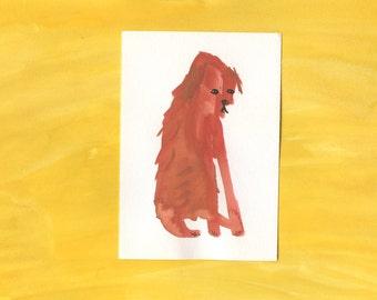 100 Hideous Hounds - No. 26 - Original Gouache dog painting