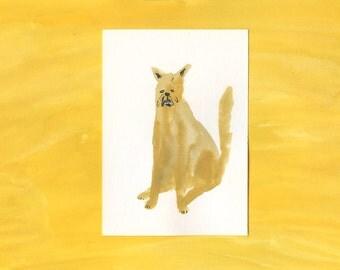100 Hideous Hounds - No. 31 - Original Gouache dog painting
