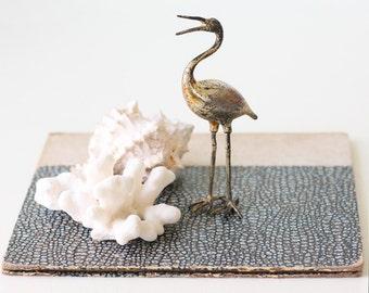 Vintage Metal Stork