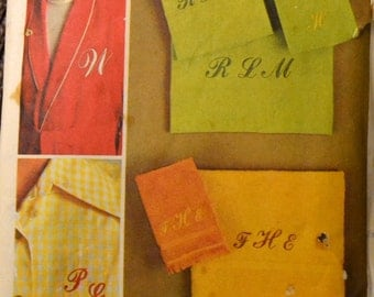 Vintage Sewing Pattern Simplicity 9738 Embroidery Transfer for Script Alphabet  Complete